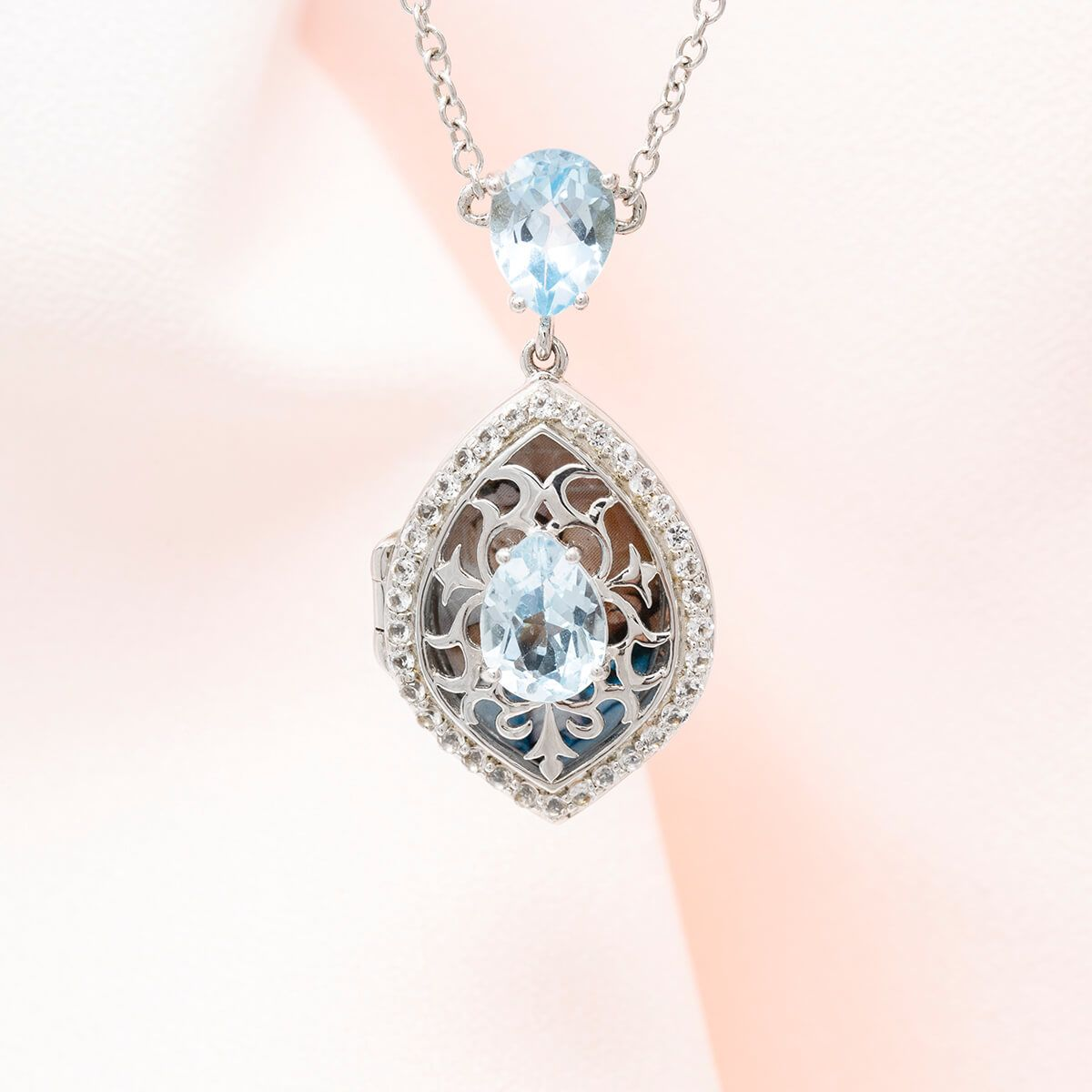 Sadie Silver Locket Necklace