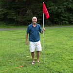 "Regulation backyard Golf Flag Stick and Patented ""Mow-Over"" Anchor"