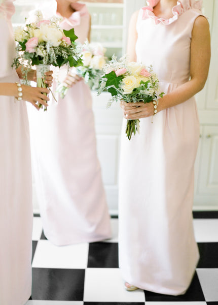 Mary Hester Hill Bridal Party in the Go Go Gown in Light Pink