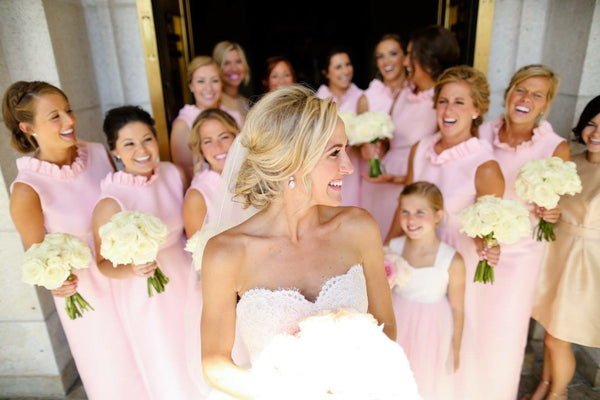 Emily Roan Bridal Party in the Go Go Gown in Light Pink