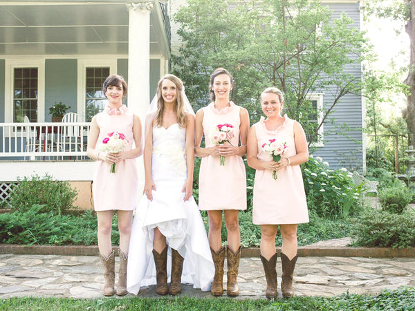 Raegan Perry's Bridal Party in the Go Go Dress in Light Pink