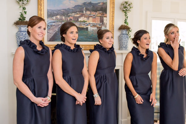 Aly Carter Bridesmaids in the Go Go Gown in Navy
