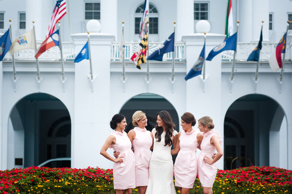 Pearcy Bridal Party in the Go Go Dress in Light Pink