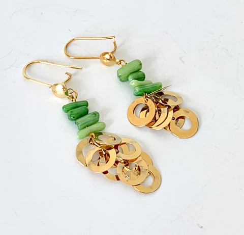 GREEN CORAL EARRINGS