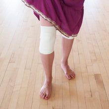 Load image into Gallery viewer, white knee pad, natural kneepads dance, dancers