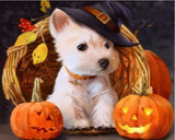 Halloween Dog Animals Modern Acrylic Paint - DIY Paint By Numbers - Numeral Paint