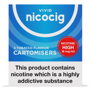 Nicocig (Nicolites) Electronic Cigarette High Strength Tobacco Refill Cartridges Pack of 3