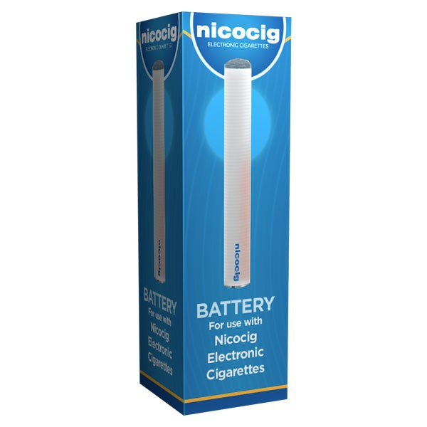 Nicocig Rechargeable Electronic Cigarette Spare Battery Blue LED Tip