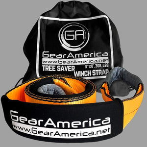 "Gear America Heavy Duty Tree Saver Winch Strap 3"" x 8' 