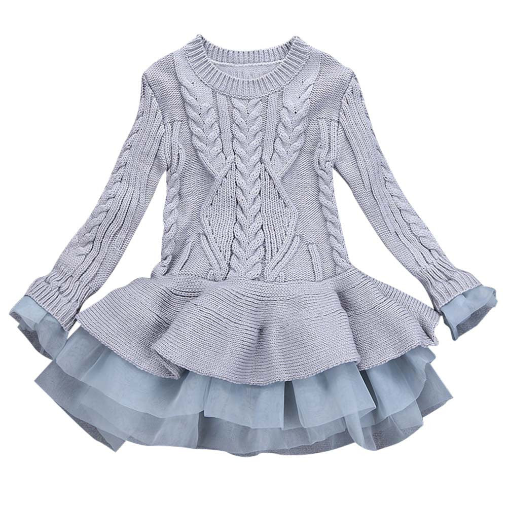 Knitted Pullover Girls Dress