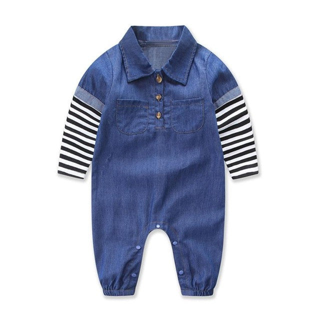 Stylish Denim Baby Boys Bodysuit