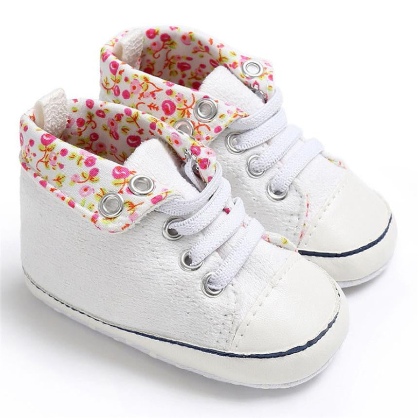 Flowers Baby Girls Shoes (4 colors)