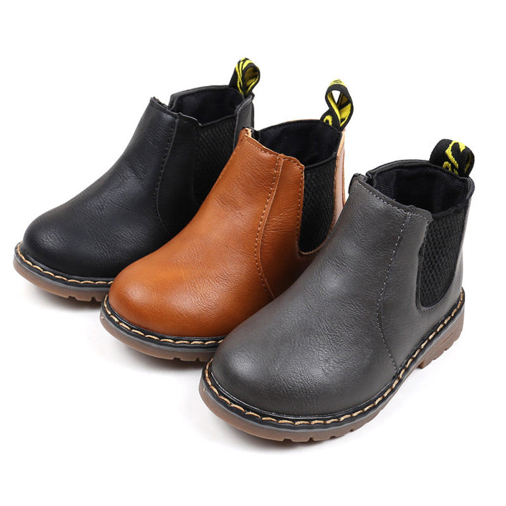 Martin Boots Leather Boys Shoes (3 colors)
