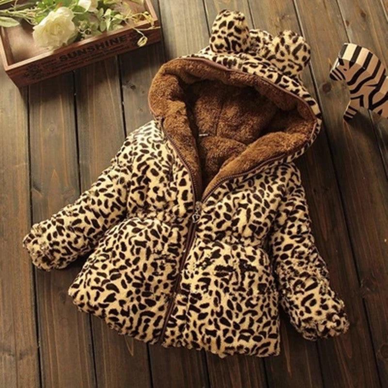 Leopard Baby Girl Outerwear Jacket