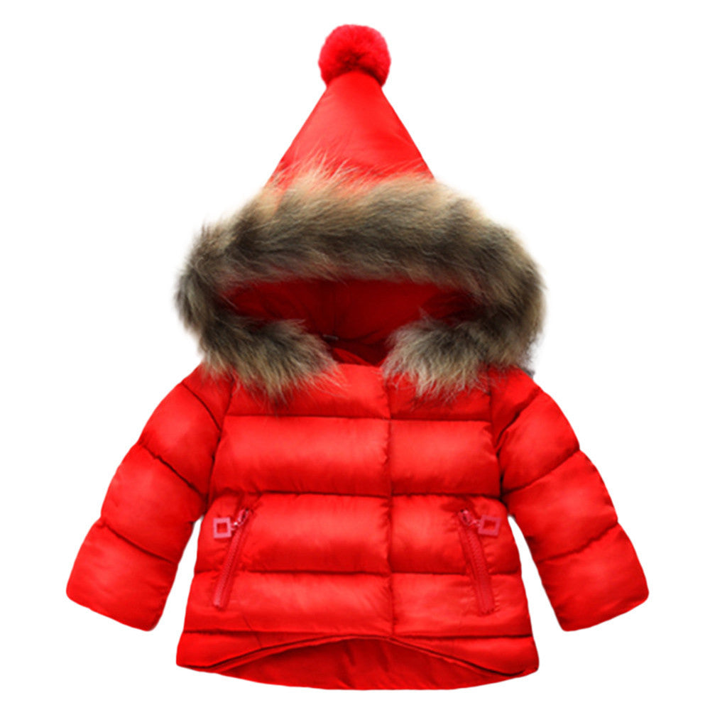 Baby Girls Warm Dinosaur Jacket Coat