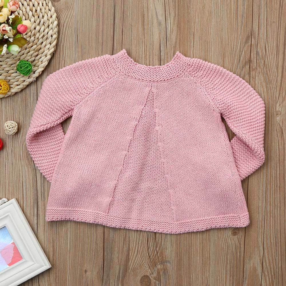 Button Knitted Girls Sweater