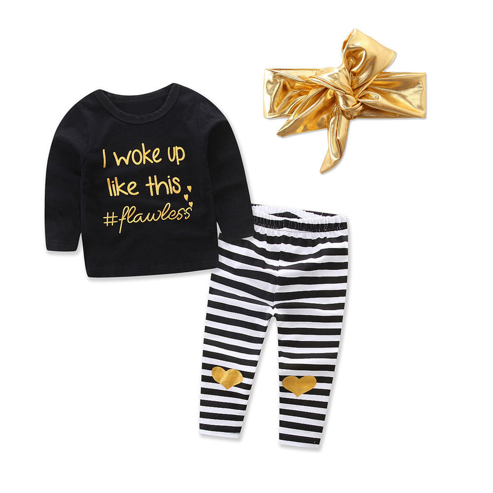 Flawless Baby Girls Outfit Set