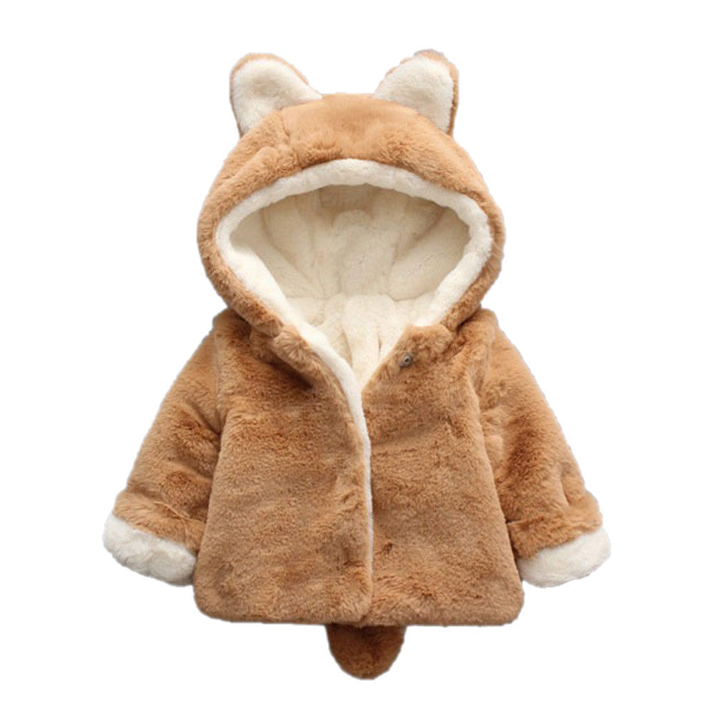 Baby Girls Hooded Coat Jacket