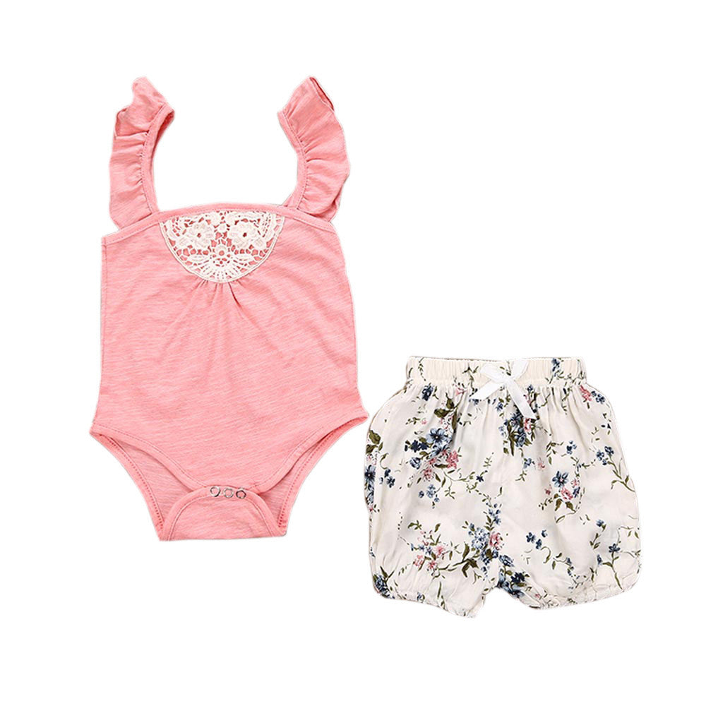 Summer Floral Baby Girls Outfit