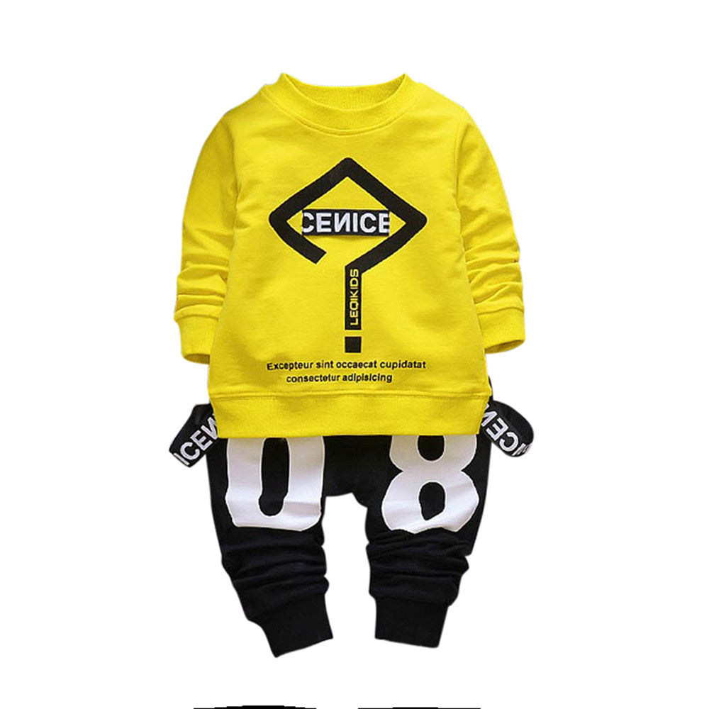 Boys Sportwear Outfit Letter Printing Set