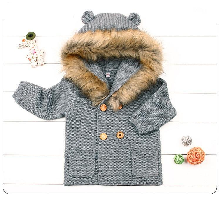 Baby Boys Hooded Faux Coat