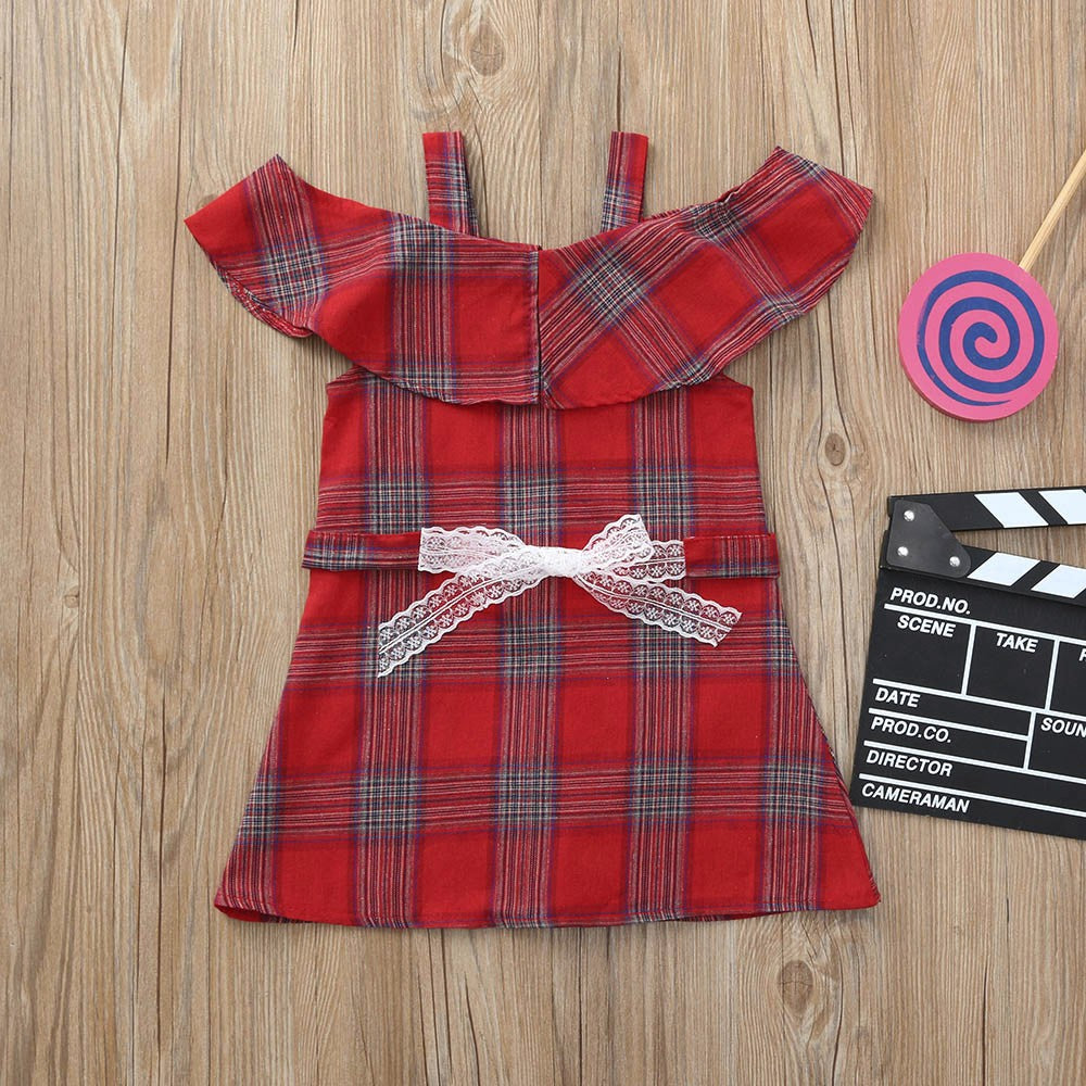 Plaid Red Baby Girls Dress (2 Colors)