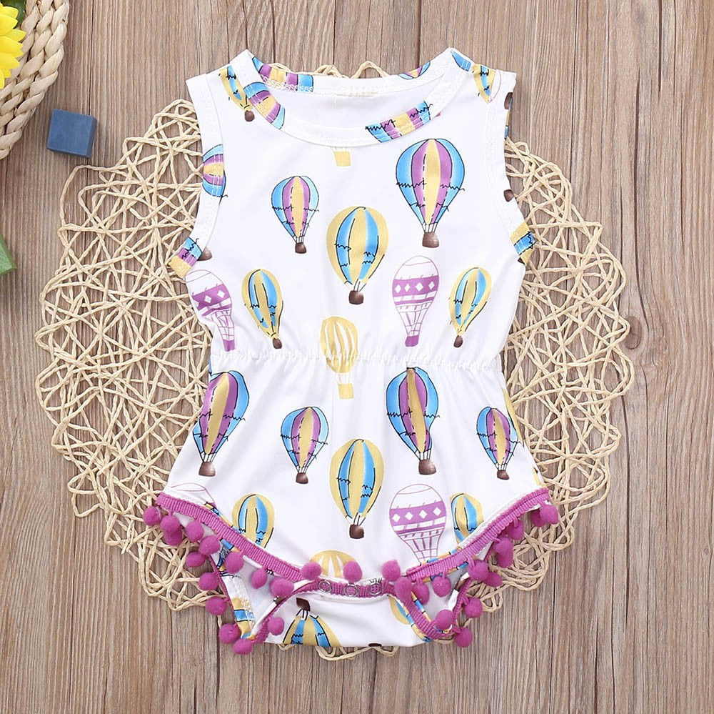 Baby Girl Bodysuit, Romper Air Balloon