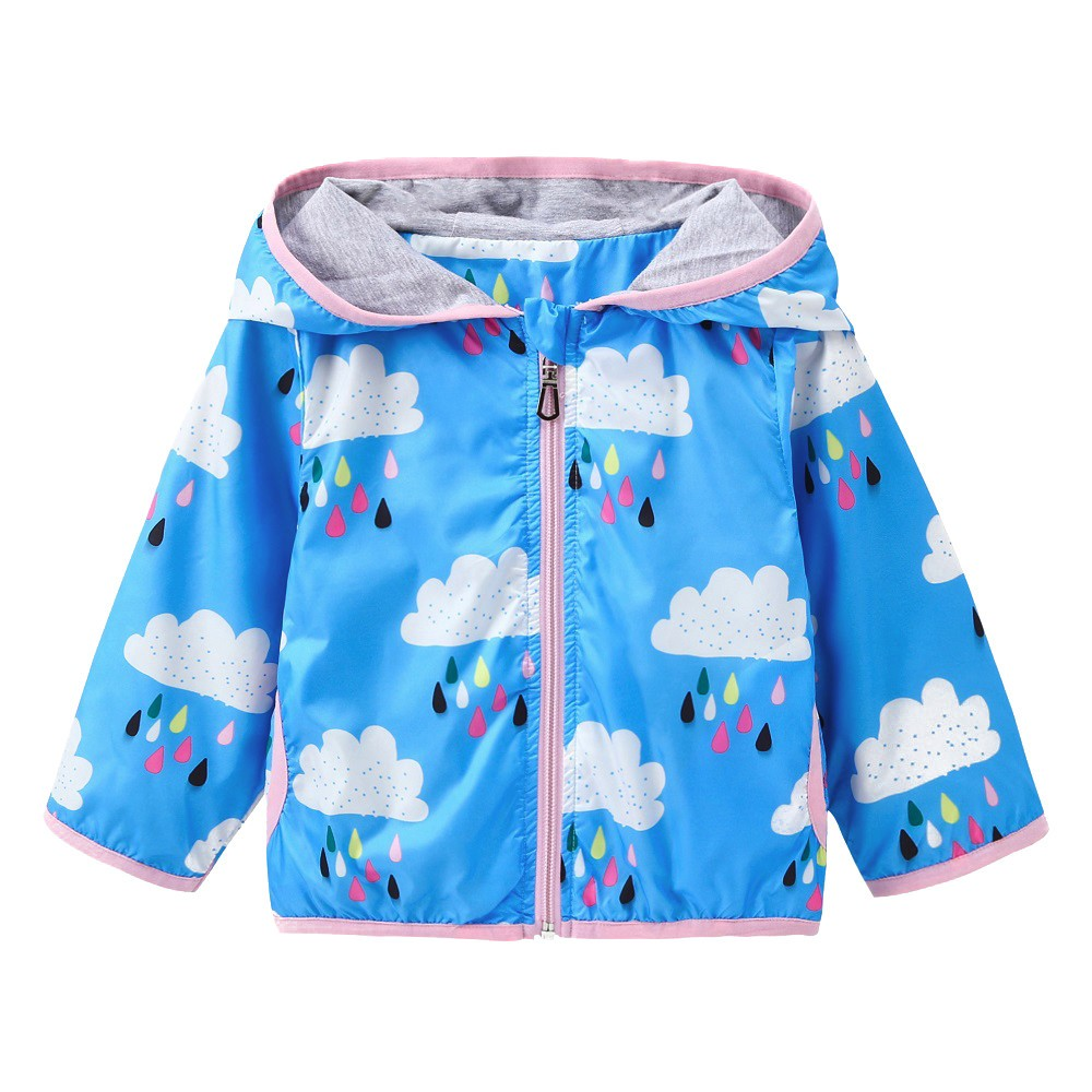 Rainy Clouds Baby Girls Jacket (2 Colors)