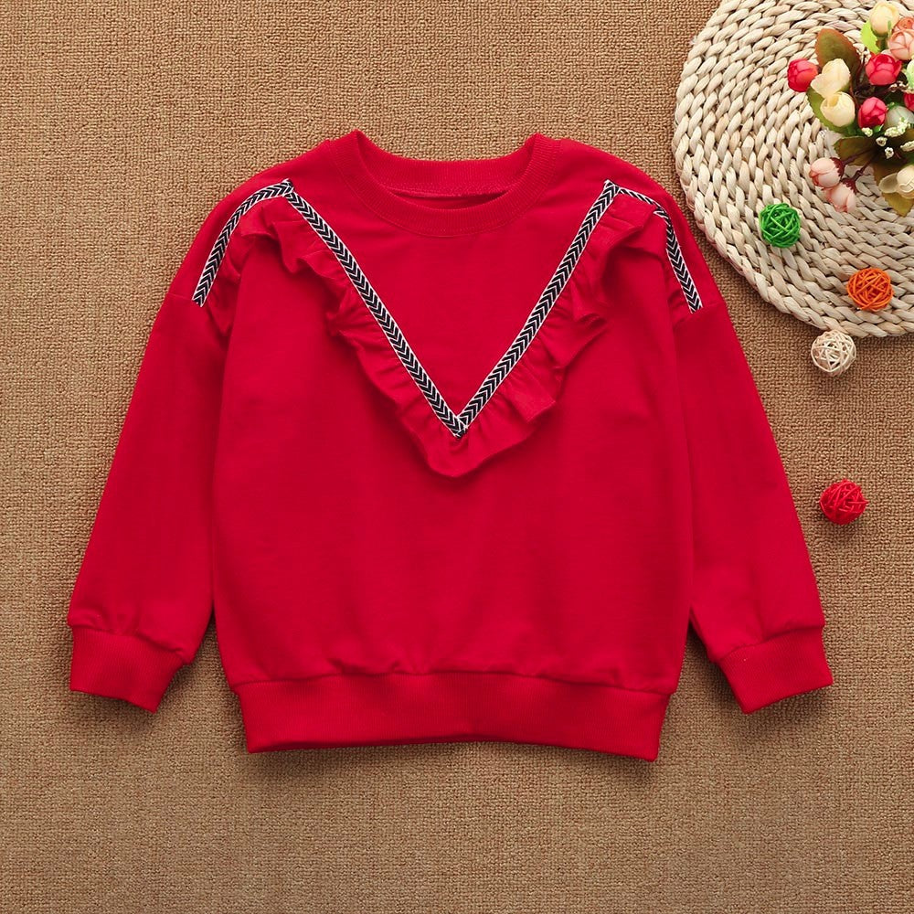 Ruched Girls Sweater (2 Colors)
