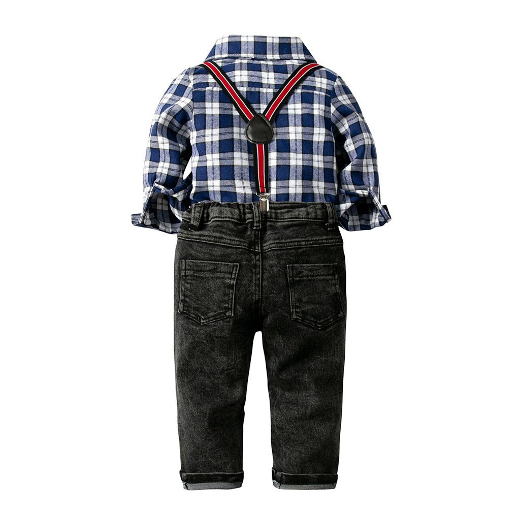 Plaid Boys Outfit set