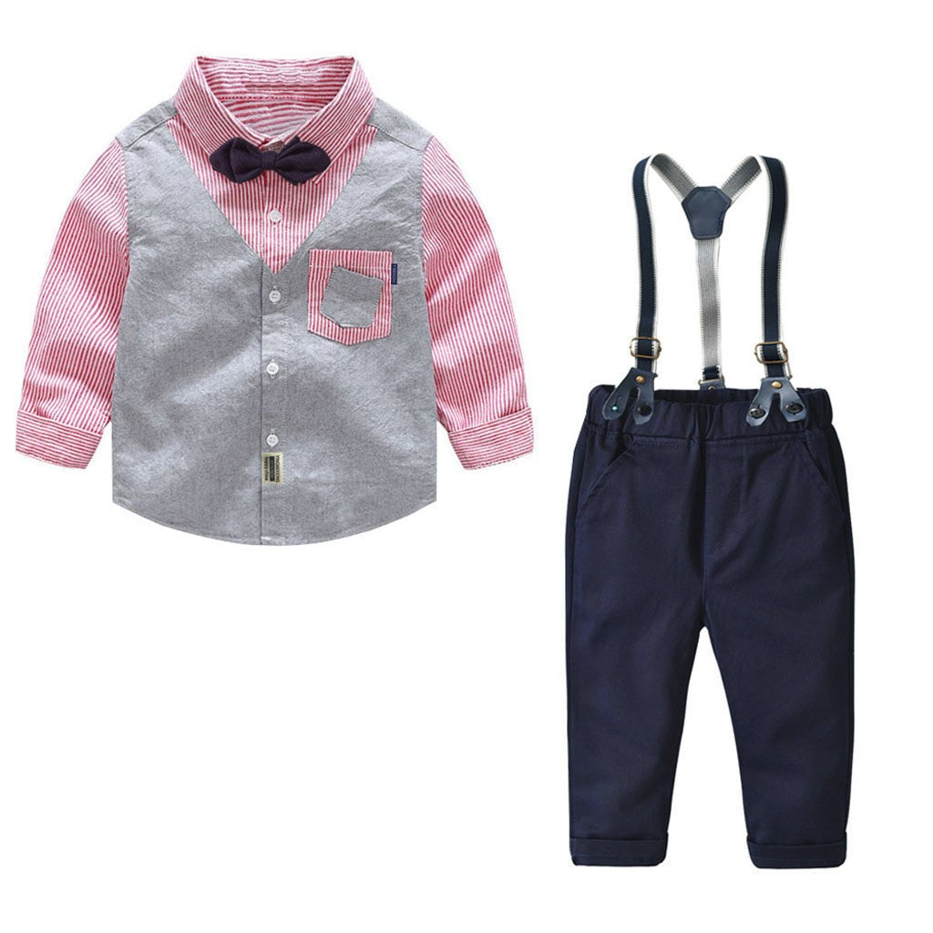Fashion Bowtie Boys Outfit set (2 colors)