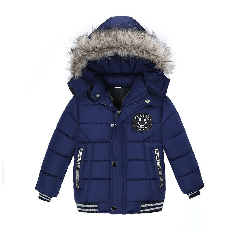 Navy Blue Padded Boys Jacket