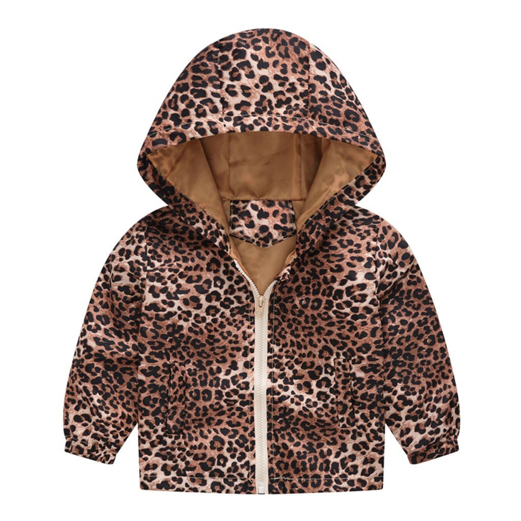 Leopard Baby Girls Jacket
