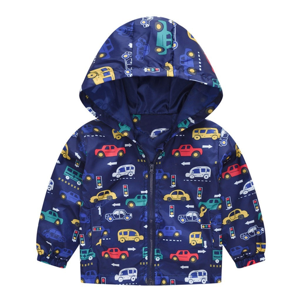 Cartoon Cars Baby Boy Jacket (4 Colors)