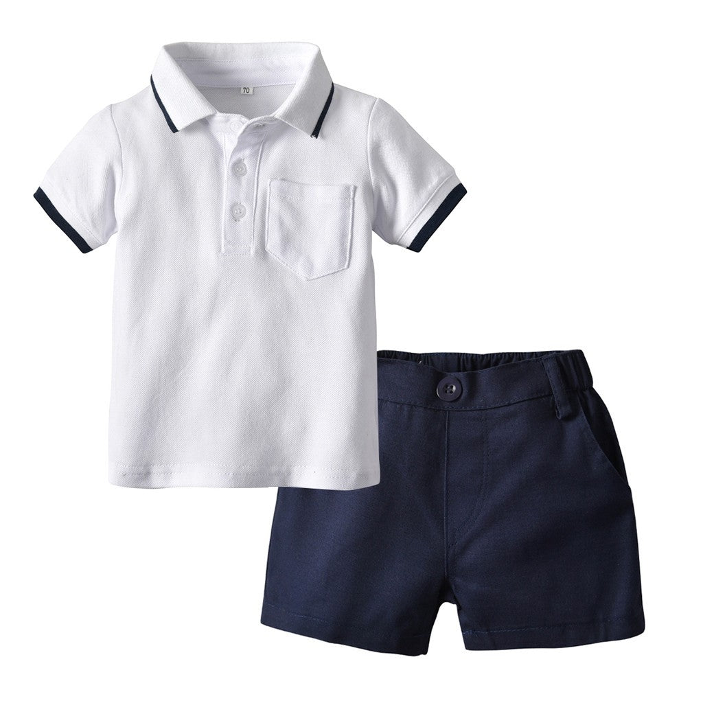 Summer Polo Boys Outfit Set (2 colors)