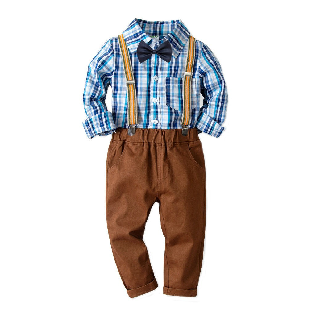Brown Stylish Boys Outfit Set