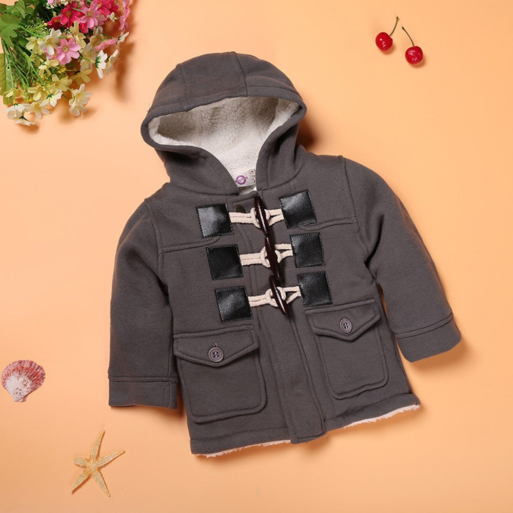 Button Zipper Baby Boy Jacket (2 Colors)