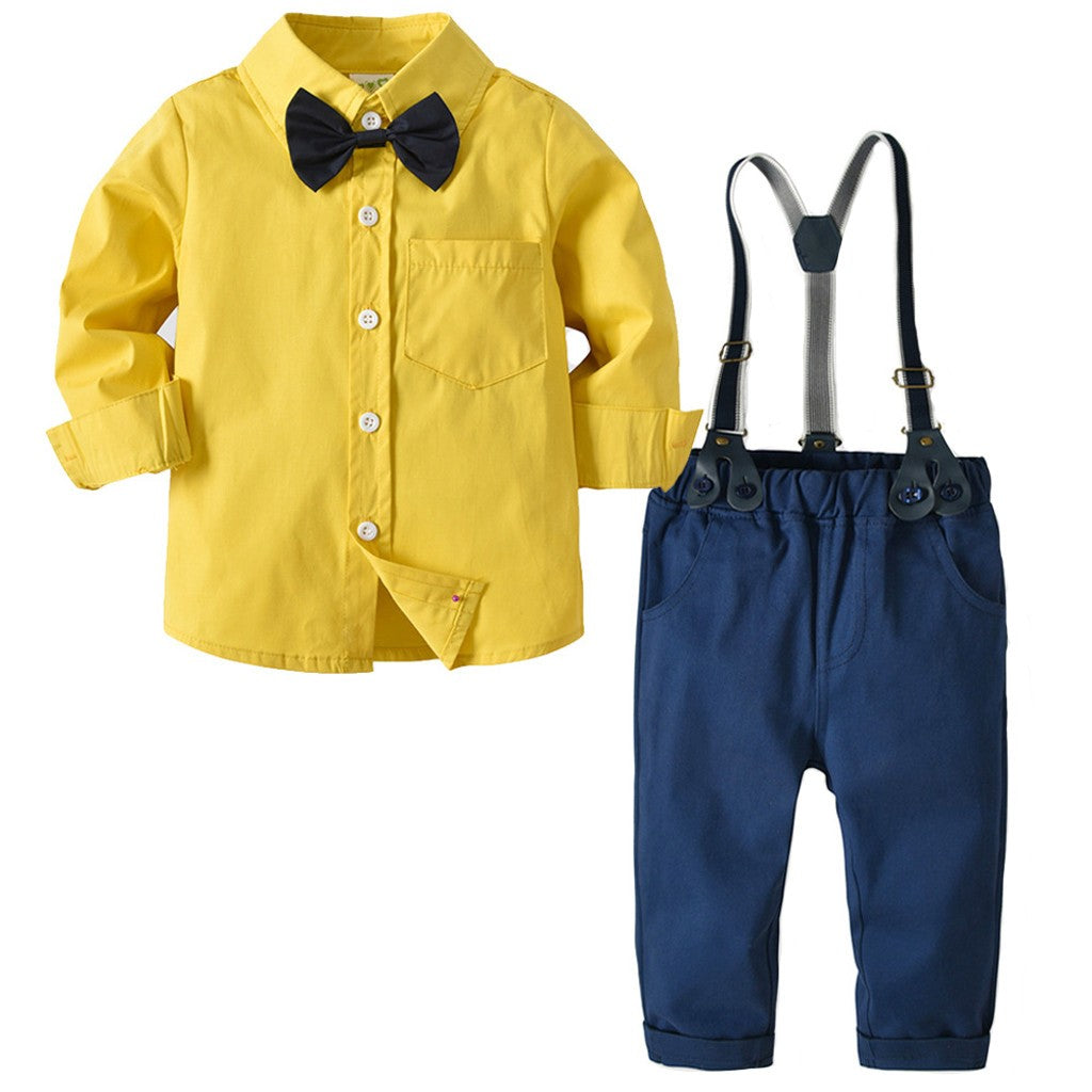 Yellow Unique Boys Outfit Set