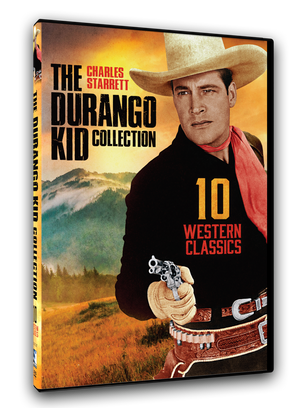 10 classic western movies on 2 DVD discs. Charles Starrett is The Durango Kid. Co-stars include: Jock Mahoney, Clayton Moore, Smiley Burnette, Fred F. Sears and Gail Davis.