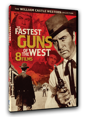 8 movie classic western films by legendary director William Castle in one 2 disc DVD set. Ann Savage, Robert Stack, George Montgomery, James Griffith, Lex Parker, Patricia Medina.