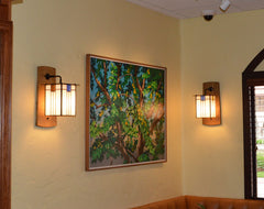 Mission Wall Sconces in a Restaurant