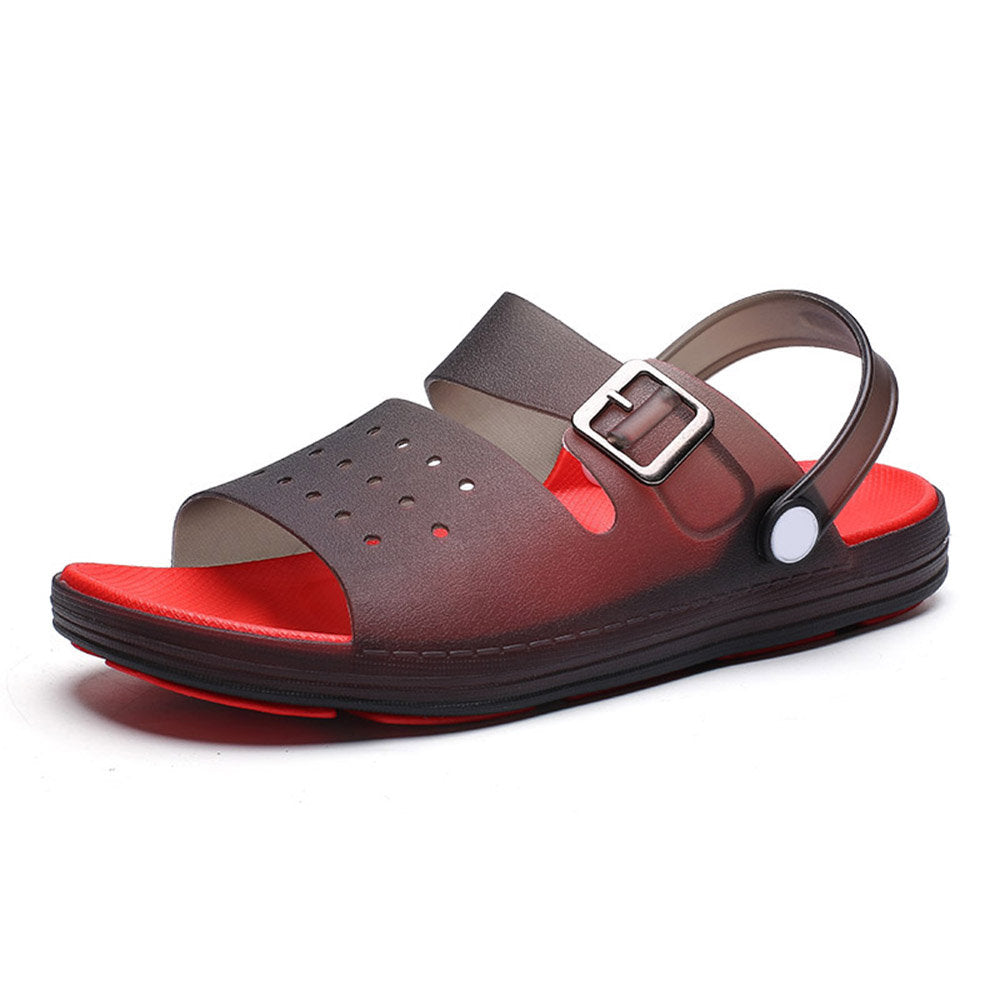 Men Men's Adjustable Heel Strap Comfy Soft Water Casual Beach Sandals