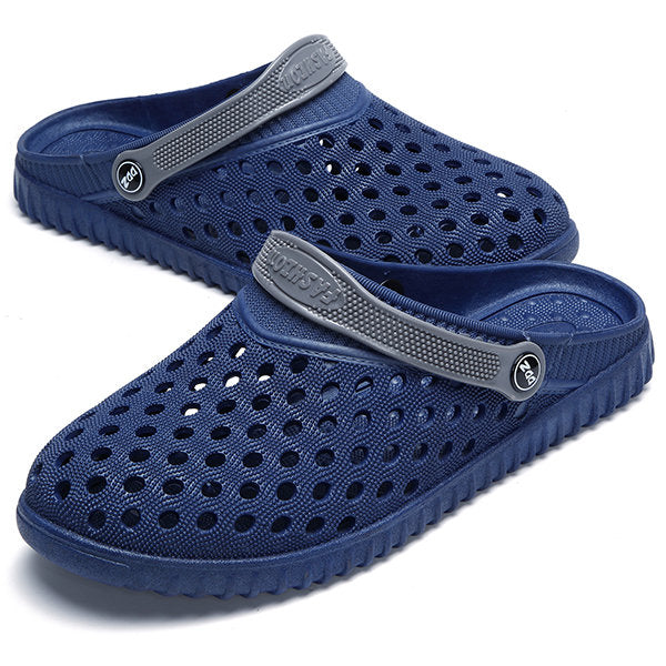 Men's Hollow Out Breathable Flat Slip On Beach Sandals