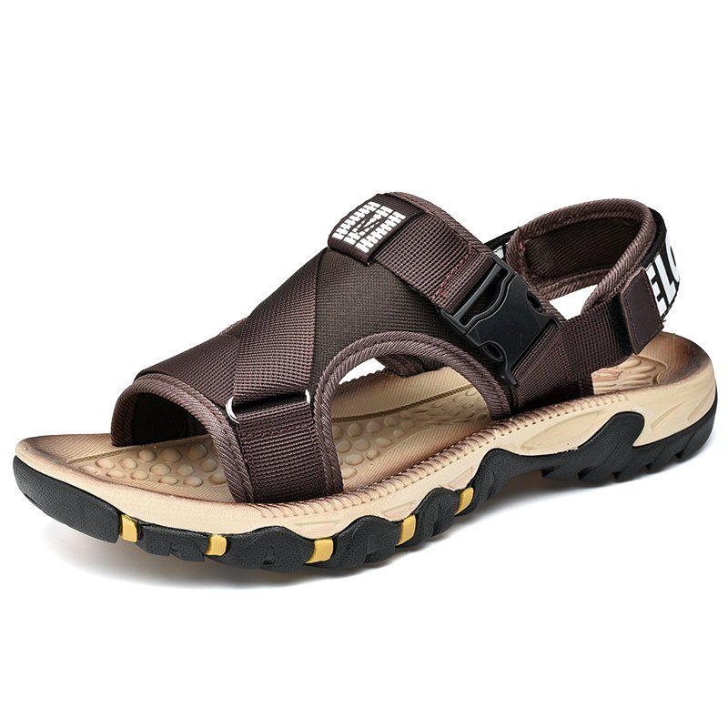 Men's Hook Loop Outdoor Slip Resistat Comfy Walking Grip Strap Sandals