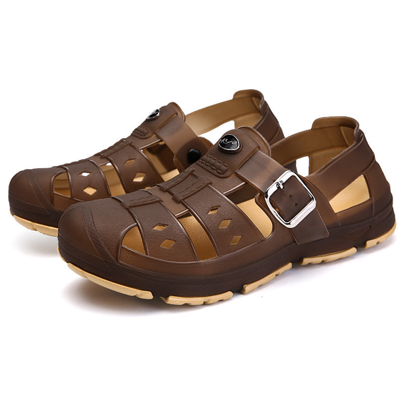 Men's Hollow Out Non-slip Hook Loop Beach Sandals
