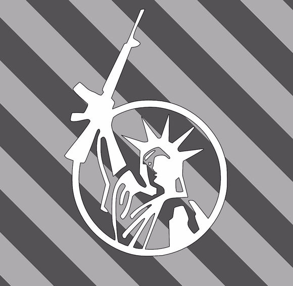 Lady Liberty Weapon Decal