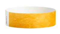 "A Tyvek®  3/4"" x 10"" Sheeted Solid Goldenrod wristband"
