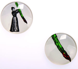 Gangzai Design Set of 2 Magnets - Miss Asparagus