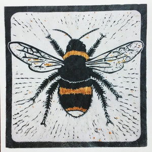 Sarah Cemmick Lino Cuts Busy Bee