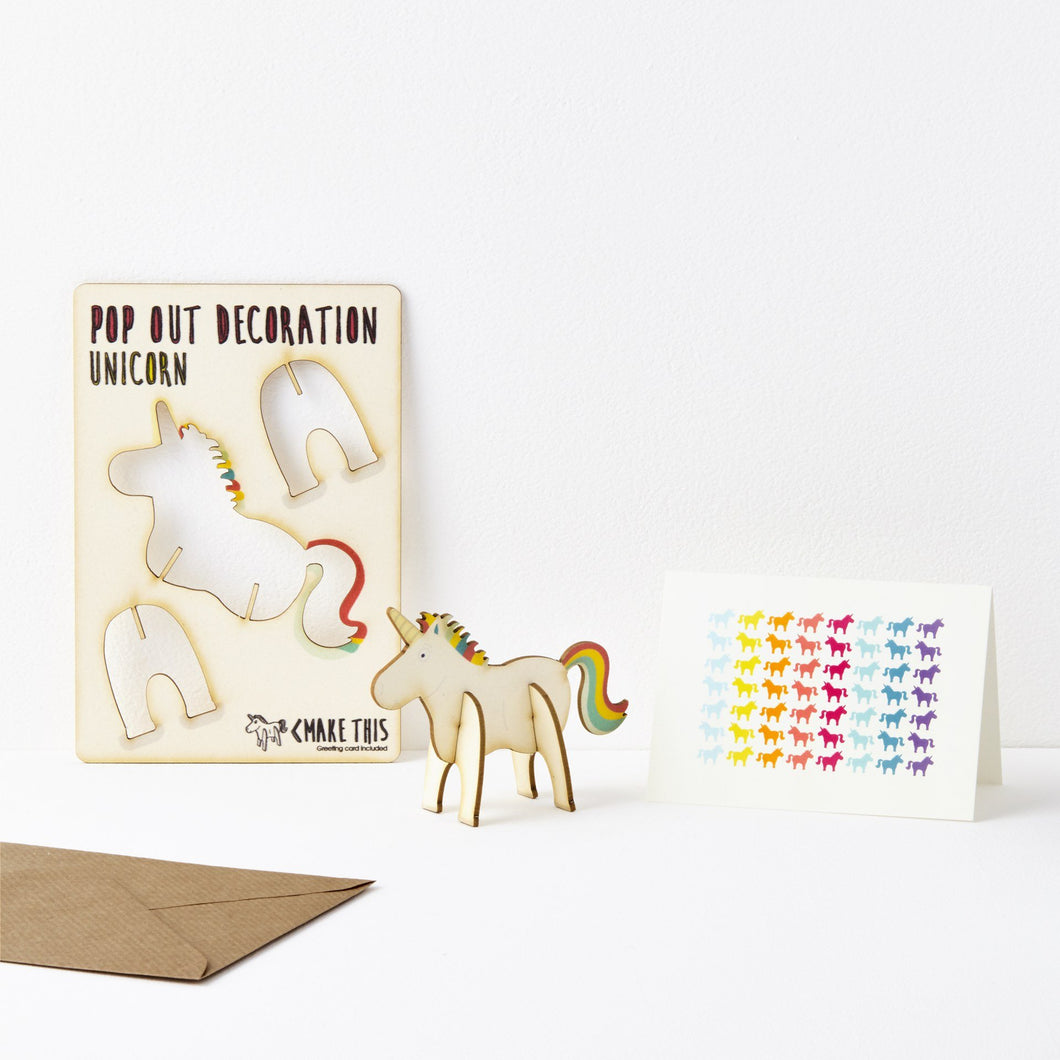 The Pop Out Card Company Pop Out Unicorn Card